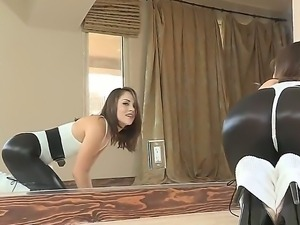 Amazing action with Kristina Rose who looks so perfect and hot in thos black...