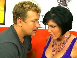 Sexy milf Shay Fox with natural big boobs is fucked by her handsome neighbor