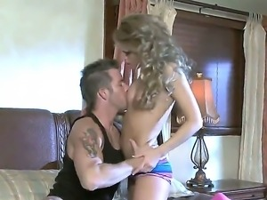 Sexy blonde Jessa Rhodes fucking sweet with her new boyfriend this night