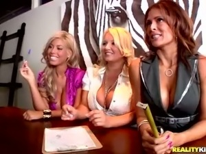 MILF Monique Fuentes and her friends Bridgette B and Rachel