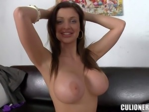 Aletta Ocean poses totally naked and gives blowjob in this