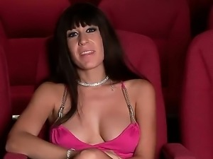 An interview with provocative brunette lady Eloa Lombard and some hot scenes...