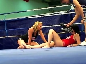 Behind the camera movie in the night fight club with Angell Summers and...