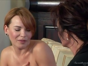 Alluring Dana Dearmond gets seduced by big titted mature brunette