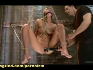 Ropes Bondage on the Sybian Machine