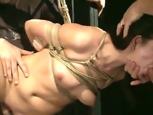 Karen rides two huge hard cock on her wet pussy feeling hot.