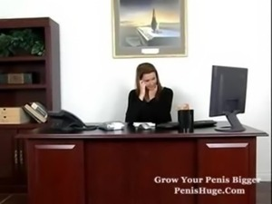 Busty fucking in the office free