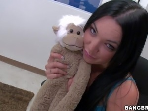 This casting video features Megan Foxx. Shes a sexy flirtatious brunette that...