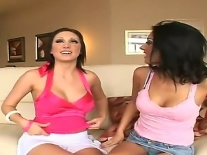 Hot lesbian scene with dangerous babies named Mindy Main and Stephanie Cane