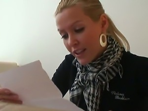 Stunning and gorgeous blonde pornstar babe Sophie Moone enjoys in getting her...