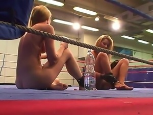 Naughty sensational engage in a light talk after a fight talking of their...