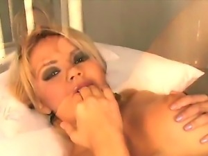 Sexy blonde girl Ashlynn Brooke undressed her perfectly tight and sexy body...