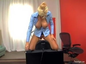 Eve Lawrence is so fucking sex! This gorgeous office blonde