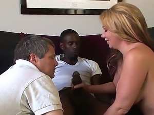 Bisexual interracial threesome with Jason B, Jimmy Broadway and Kiki Daire