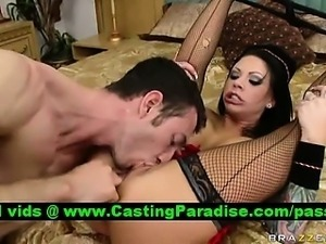 Mason Moore busty brunette fucking and squirt