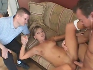 Hubby watching while wife fucks