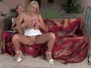 www.PornSharing.com hot videoclip : Pretty slender blonde and brunette...
