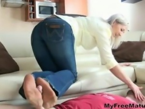 Granny Nylon Footjob And Spit 9 mature mature porn granny old cumshots cumshot