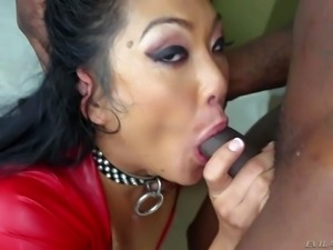 Mya Minx is a raven haired slutty asian woman in sexy red dress. Exotic woman...