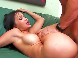 Wonderful brunette Katsuni with hot tight boobs is giving her twat for fuck...