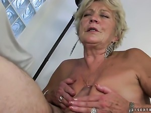 Blonde tart having sensual sex with hard cocked guy