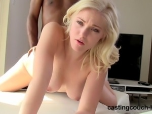 Castingcouch-HD - Natalie Interracial Casting