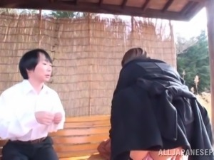 japanese slut meets nice guy in the park