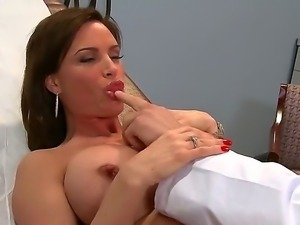 One of a kind brunette milf Diamond Foxxx with jaw dropping gigantic gazongas...
