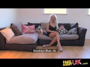 FakeAgentUK Husky voiced British beauty gets sticky reward free