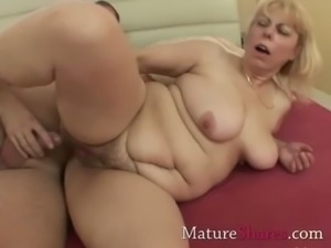 Tight mature pussy gets a drill from behind free
