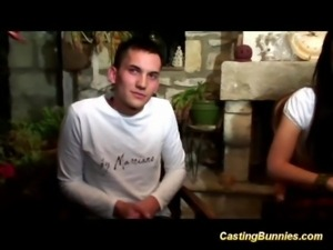 Cute french teen couples first anal casting vido tape