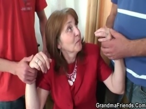 Old office bitch takes two cocks free
