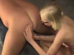 A lovely blonde amateur girlfriend toys her boyfriend's ass and gives hot...
