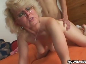 Mother-in-law gets drilled by a young stud