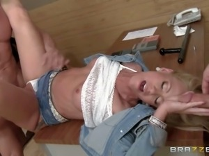 Simone Sonay is a horny as hell milf. Tall slim woman with sexy long legs has...