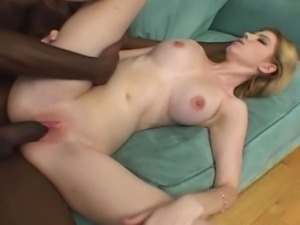 Young cute blonde gets hard fucked by a massive black cock