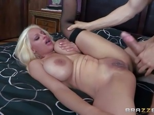 Holly Brooks is his dad new wife. This blonde milf with huge tits and bubble...