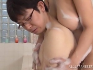 soaped up and ready for a cum load