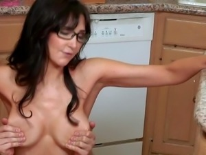 Diana Prince is a nice looking skinny dark haired milf with long legs and...