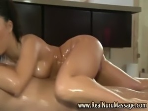 Horny asian masseuse sucks cock free