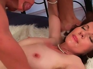 Hairy mature evelyn drilled hard