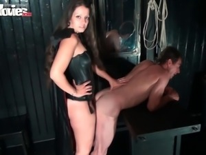 Larissa Gold is back for some kinky action. She brought in her sex slave to...