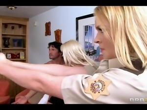 Hot Big-tit blonde Pornstar Krissy Lynn fucked hard in cop uniform