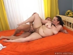 fat and horny brunette @ big fat cream pie #08