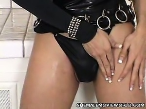 Shemale Giselle Rubbing Her Big Boobs