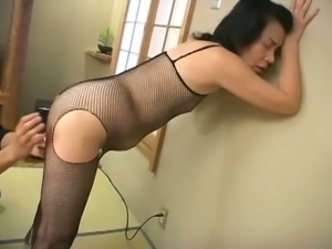 Mature asian cunt gets toyed with a vibrator
