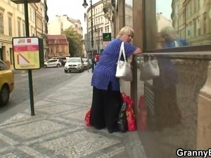 granny went shopping and now she needs cock