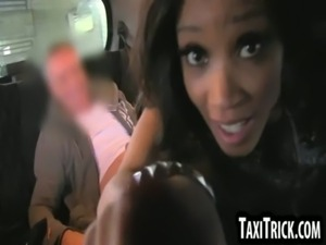 Sexy ebony honey sucks her taxi drivers hard cock free
