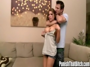 Girlfriend gets Roughed Up - PunishThatBitch.com free