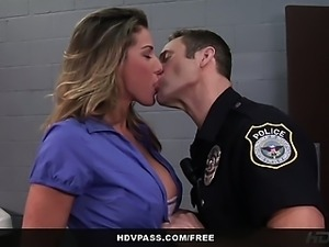 HDVPass Kayla Paige Sucks and Fucks a Cop To Get Out of Jail